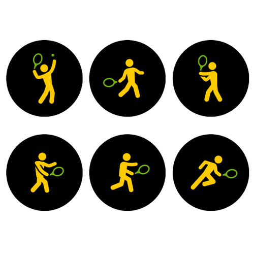 Tennis Strokes Icons